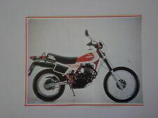 - RITAGLIO DI GIORNALE 1982 MOTO HONDA XL 500 R