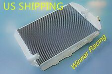 56MM 700HP ALUMINUM RADIATOR FOR CHEVY HOT/STREET ROD TRUCK 6 CYL L6 ENGINE 1938
