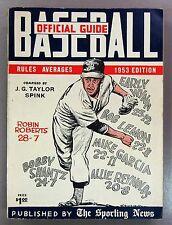 1953 The Sporting News Baseball Guide Robin Roberts