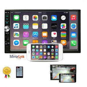 "Doppel 2DIN Autoradio Bluetooth 7"" Touch Screen USB TF FM Mirror Link MP5 Player"
