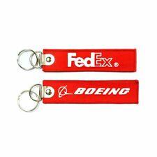 Fedex-Boeing Embroidered keychains x2