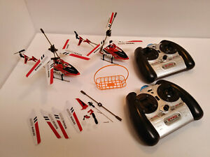Syma Model S107 Gyroscope System RC Radio Control 2 Helicopters and Remotes