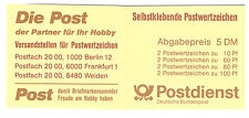 GERMANY DEUTSCHE BUNDESPOST 1991 TOURIST SIGHTS SELF ADHESIVES 5DM BOOKLET USED