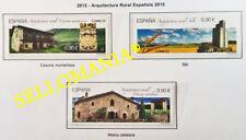 2015 ARQUITECTURA RURAL CASONA SILO MASIA EDIFIL 5005 / 07 ** MNH        TC20520