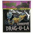 DRAG-U-LA Embroidered BACK PATCH - Retro-a-go-go The Munsters Grandpa's Dragula