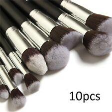 1x NUEVO 10 piezas Cepillo Set para Profesional Maquillaje - Kabuki Estilo