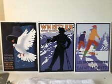 3 Vintage Style Travel Poster - 7.5x10