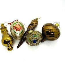 Vintage Assorted Iridescent Glass Christmas Tree/Holiday Ornaments Decoration