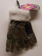 Women's Realtree® Cold Weather Brown Camo Fuzzy Fleece-Lined Gloves Size S/M New