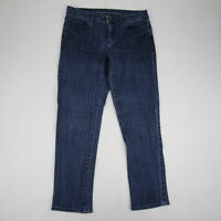Lauren Conrad Women's Jeans Size 8 Straight Leg Cotton Stretch Mid Rise Med Wash