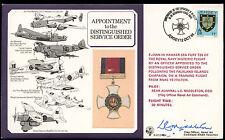 Jersey 1984 RAF DM4 Distinguished Service Order Medal Flown Signed Cover #C24932