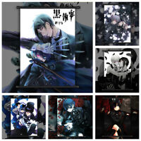 Black Butler Sebastian x Ciel Anime Wall Art Poster Scroll Home Decoration