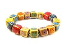 Natural Stone Beaded Bracelets Healing Stones Bangle Cubed Beads Yoga Jewellery