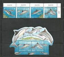 PITCAIRN ISLANDS # 733 - 736 + 736a   DOLPHINS