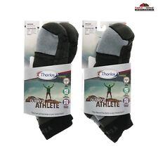 2 Pair Thorlo Outdoor Athlete Socks Medium Black ~ New