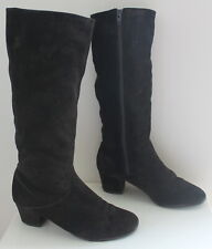 Unknown label black boots women Eur 37 US-Aus 6.5 UK 4.5 USED from Italy #459