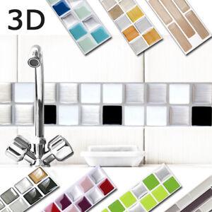 3D Fliesenaufkleber Fliesensticker Fliesenfolie Bad Küche Wand zur Auswahl W3366