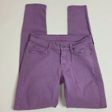 7 For All Mankind Purple Skinny Jeans Size 25 7FAM