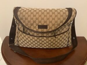 AUTHENTIC GUCCI DIAPER BAG WITH CHANGING PAD And Dust Bag