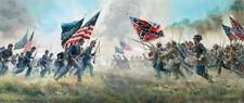 WITH A REBEL YELL, Kunstler, Manassas Civil War full size ltd ed print