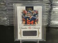 2012 Brian Urlacher National Treasures Game Worn Patch #'d 2/10!!!