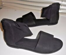 New Eileen Fisher ~ Art to Wear ~ Black Sign Flat Sandal Shoes 8.5 M 8 1/2