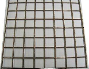 "SQAURE METAL MESH square metal sheets Shape 1"" x 1"" 16g Wire Welded Mesh"