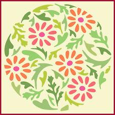 FLOWER CIRCLE 5 - DAISY -  BOTANICAL - The Artful Stencil