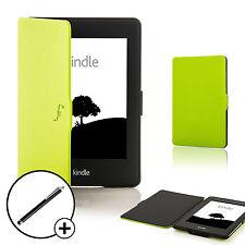 De Cuero Verde Shell Smart Funda Protectora Para Amazon Kindle Paperwhite 2015 + Stylus