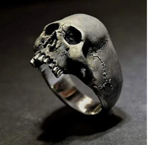 Men's Ring Gothic Skull Biker Zinc Alloy Fashion Jewelry (size 11) (sk3)