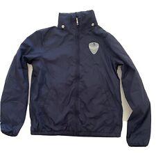 Boys DIESEL Designer Jersey Lined WINDBREAKER Jacket Coat NAVY BLUE 12- 14 Years