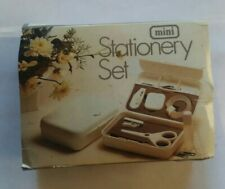 Vintage Mini Stationery Plastic Box Travel Set