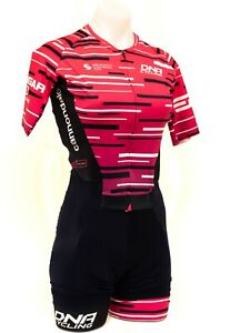 DNA Cycling DNAK4 Pro Team Short Sleeve Skinsuit Women XS Pink Road Bike Race TT