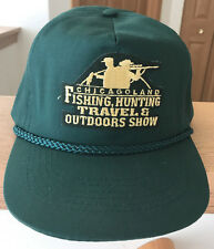 Chicagoland Fishing, Hunting Travel & Outdoors Show Hat Cap Green Vintage VTG