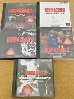 Resident Evil Set Lot of 5 BIOHAZARD 1 2 3 Japan PS1 PS2 PlayStation1 2 Used F/S