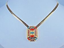 """Crystals - 16-18"""" Length 0012 D'Orlan Gold Plated Necklace with Swarovski"""