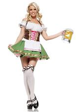 NWT Women's Oktoberfest Beer Maid Girl Costume Halloween Sz Medium Green NEW