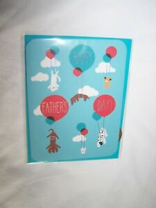 Papyrus Father's Day Greeting Card/Envelope; Dogs with Balloons