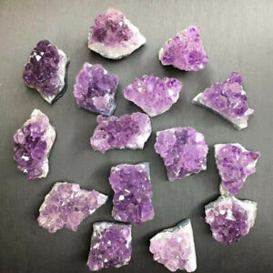 Natural Amethyst Cluster Quartz Crystal Mineral Specimen Healing Stone Rough