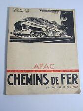 Chemins De Fer Magazine- Numero 113- Decembre 1937 French Railroad Brochure WWII