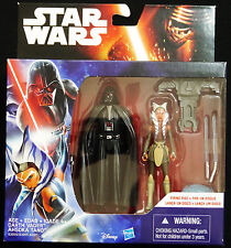"STAR WARS REBELS DARTH VADER &  AHSOKA TANO NEW SEALED 3.75"" ACTION FIGURE"