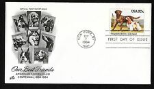 #2099 20c Dogs - Chesapeake Bay Retriever, Cocker Spaniel - ArtCraft Fdc