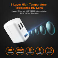 1080P HD mini Camera  Security 2 Port Wall USB Charger Plug Video Hidden HOT!!!