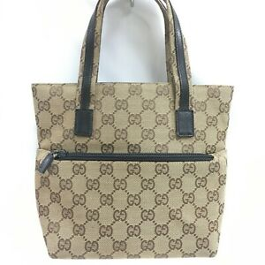 Auth Gucci  tote bag canvas beige From Japan0803*2646