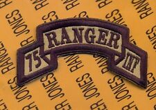 US Army 75th Infantry AIRBORNE RANGER Regiment scroll patch c/e Desert Black