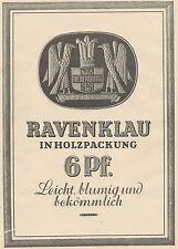 J1377 Sigarette RAVENKLAU - Haus Neuerburg - Pubblicità grande formato - 1929 Ad