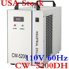 S&A CW-5200DH Industrial Water Chiller 110V 60Hz for 8KW Spindle / Welding/ Tube