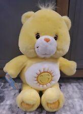 "2002 CARE BEARS 13"" Yellow FUNSHINE Bear TCFC Plush Stuffed Animal Sunshine-EUC!"