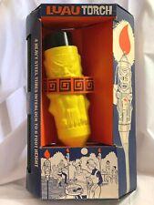 Vintage 60's Luau Tiki Patio Torch Yellow Plastic with Steel Tubes- Unused- NOS
