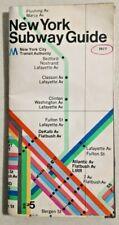 1977 NEW YORK CITY SUBWAY MAP NYC Transit Massimo Vignelli spaghetti -- 3893